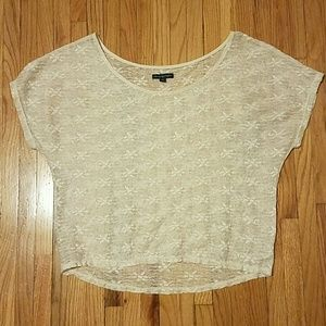 American Eagle Floral Lace T Shirt
